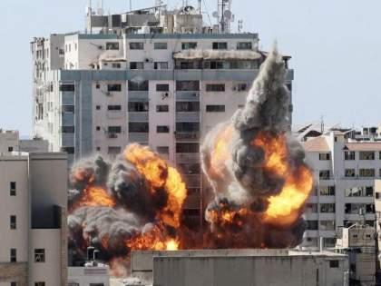 Israeli fighter jets unleashed a series of heavy airstrike at Gaza city Hamas Palestine | गाझा पट्टीत Israel ची कारवाई सुरूच; आज पुन्हा इस्रायलनं केलं १० मिनिटांपर्यंत जबरदस्त बॉम्बिंग