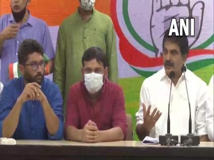 Kanhaiya Kumar and Jignesh Mewani joined Congress party | अखेर कन्हैया कुमार आणि जिग्नेश मेवाणी यांचा काँग्रेसमध्ये जाहीर प्रवेश