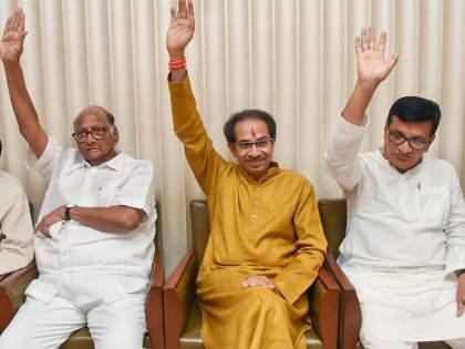 Shiv sena-NCP alliance's is warning for Congress's election fight language?   काँग्रेसच्या स्वबळाच्या भाषेला सेना-राष्ट्रवादी युतीचाउतारा?