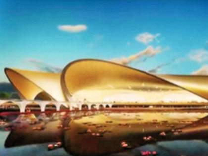 Navi Mumbai Airport will stand in the shape of a lotus; Designed by Zaha Hadid | नवी मुंबई विमानतळ उभे राहणार कमळाच्या आकारात; झहा हदीद यांची रचना