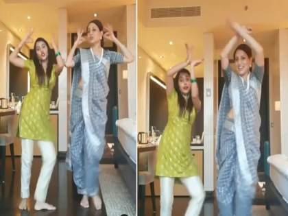 Kishori Shahane dancing on badi mushkil song, video goes viral   नऊवारी साडीत किशोरी शहाणे थिरकल्या बडी मुश्कील गाण्यावर, व्हिडिओ झाला व्हायरल