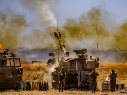 israel palestine clash now israel sends troops to gaza border   Israel-Palestine Clash: गाझा सीमेवर इस्रायलने पाठवले सैन्य; आता जमिनीवरून युद्ध होण्याची शक्यता!