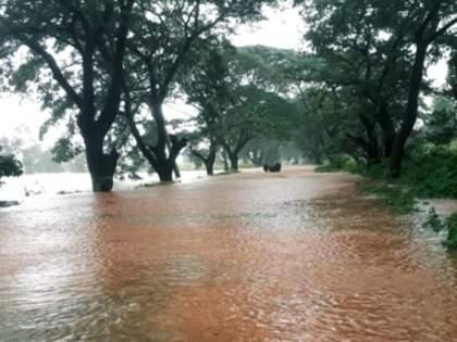 Signs of Sindhudurg-West Maharashtra disconnection; The tree collapsed in Fondaghat   तळेरे कोल्हापूर राष्ट्रीय महामार्ग पाण्याखाली, सिंधुदुर्ग-पश्चिम महाराष्ट्र संपर्क तुटण्याची चिन्हे; फोंडाघाटात झाड कोसळून ठप्प
