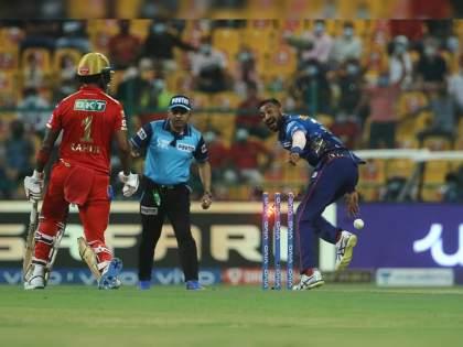 IPL 2021 , MI vs PBKS Live Updates : spirit of the game; Krunal withdrew the run-out appeal on his last delivery after the ball hit KL Rahul Video | IPL 2021 , MI vs PBKS Live Updates : कृणाल पांड्या पुन्हा चर्चेत; लोकेश राहुलसोबत जे वागला, त्यानं सर्वाचं लक्ष वेधलं, Video