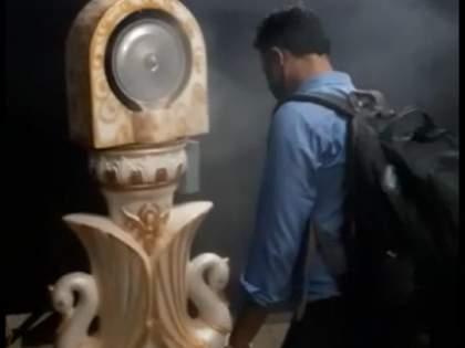 Perfume spraying machine is now spraying sanitizer   लग्नामध्ये अत्तराचा फवारा करणारी मशीन आता करतेय सॅनिटायझर फवारणी