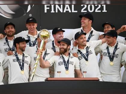 WTC final 2021 Ind vs NZ Test : NEW ZEALAND ARE THE FIRST EVER WINNERS OF THE ICC WORLD TEST CHAMPIONSHIP | WTC Final 2021 IND vs NZ : न्यूझीलंडचा भीमपराक्रम; पहिला कसोटी वर्ल्ड कप जिंकून रचला इतिहास, टीम इंडिया पराभूत