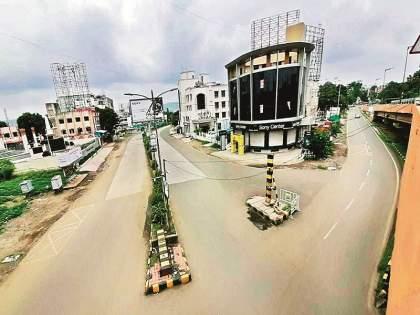 Lockdown In Aurangabad: 80% police on the road for lockdown   Lockdown In Aurangabad : लॉकडाऊनसाठी ८० टक्के पोलीस रस्त्यावर