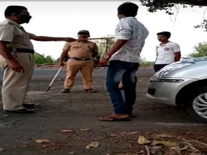 Policeman brutally assaulted by young man who going to tifin for elderly parents; Events at Avsari Budruk   आई वडिलांना शेतात डबा घेऊन जाणाऱ्यातरुणाला पोलीस कर्मचाऱ्याची अमानुष मारहाण; अवसरी बुद्रुक येथील घटना
