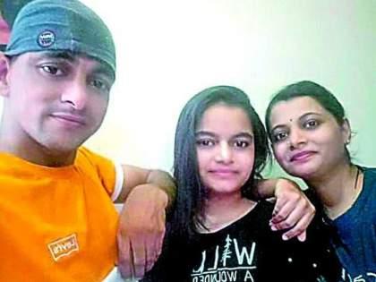 The murder of his wife, son, daughter and mother-in-law in Nagpur took place at midnight on Tuesday   नागपूर हत्याकांड: गळा घोटल्यानं पत्नीची जीभ बाहेर आली; सासू खोलीत आल्यावर म्हणाला, बघा ना मरत पण नाही!