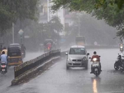 rained again in Mumbai the stones fell in the andheri | मुंबईत पाऊस पुन्हा बरसला; अंधेरीत दगड कोसळले