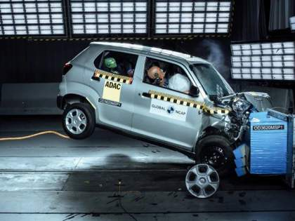 Big name! Maruti's S-Presso get Zero Star in Global NCAP; passenger safety fail   नाव मोठे! मारुतीच्या एस-प्रेसोला सेफ्टी टेस्टमध्ये झिरो स्टार