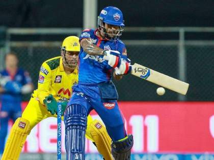 600 fours to most runs against CSK Shikhar Dhawan achieves multiple feats enroute 54 ball 85 | IPL 2021: 'गब्बर'ने पहिल्याच सामन्यातून टीम इंडियाच्या सिलेक्टर्सना दिला इशारा; नोंदवला नवा विक्रम!