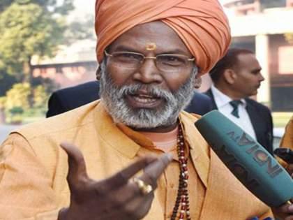 uttar pradesh ayodhya ram mandir trust land dispute sakshi maharaj sanjay singh akhilesh yadav | राम मंदिर घोटाळा: आरोप करणाऱ्यांनो पावती दाखवा अन् देणगी परत घेऊन जा, साक्षी महाराजांचं विधान