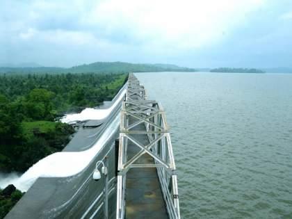 Modak Sagar Tansa Lake overflow after heavy rainfall more than 53 percent water in 7 lakes   मुंबईकरांना दिलासा! मोडक सागर, तानसा तलाव ओव्हरफ्लो; तलाव क्षेत्रावर वरुणराजाची कृपादृष्टी