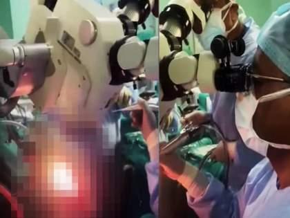 girl chanting hunuman chalisa during brain tumor surgery watch viral video   VIDEO: ऑपरेशन टेबलवर तरुणी पठण करत होती हनुमान चालिसा; डॉक्टरांनी केली यशस्वी ब्रेन सर्जरी