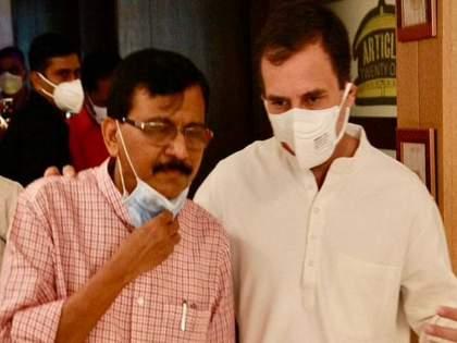congress leader rahul gandhi asked me about shiv sena mp sanjay raut tells about meeting | राहुल गांधींनी विचारलं, शिवसेना म्हणजे काय?; संजय राऊत एका वाक्यात उत्तरले; म्हणाले...
