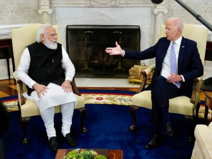 Pm Narendra Modi Us President Joe Biden Bilateral Meeting At The Oval Office In The White House   मला भारतीय महिलेसोबत लग्न करायचं होतं; मोदींसोबतच्या भेटीत बायडन यांची 'मन की बात'