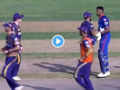 watch video IPL 2021 Heated Exchange Between Ravichandran Ashwin And Tim Southee During KKR vs DC   IPL 2021: टीम साऊदीनं डिवचलं अन् अश्विन थेट अंगावर धावून गेला, पंतही भिडला; भर मैदानात जोरदार राडा, पाहा Video