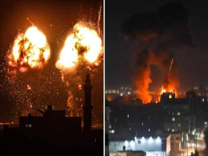 Israeli Air Force Launched Air Strikes On The Gaza Strip Early Wednesday | शस्त्रसंधी मोडीत काढत इस्राइलयाचा गाझावर पुन्हा एअरस्ट्राईक; उंच इमारती लक्ष्य, मोठं नुकसान