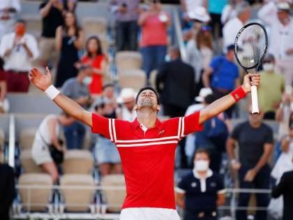 french open 2021 novak djokovic won the french open beating stefanos tsitsipas in the final   French Open 2021: अव्वल मानांकित नोवाक जोकोविच अजिंक्य; फ्रेंच ओपन स्पर्धा दुसऱ्यांदा जिंकत १९ व्या ग्रँडस्लॅमवर कोरलं नाव