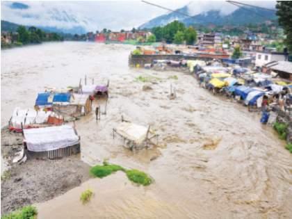 Clouds in Jammu and Kashmir, Himachal, Ladakh; 16 killed, Searching missing people | जम्मू-काश्मीर, हिमाचल, लडाखमध्ये ढगफुटी;१६ ठार, बेपत्ता लोकांचा शोध सुरू