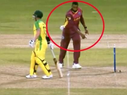 WI vs AUS : Kieron Pollard warns Matthew Wade for leaving his crease; but does the same when he bats in IPL   Video : किरॉन पोलार्डचा 'दुटप्पी'पणा पुन्हा जगासमोर आला, IPL मधील 'ती' कृती व्हायरल झाली!