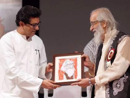 Babasaheb Purandare Birthday: memory which shows the bonding between Raj Thackeray and Shivshahir | Babasaheb Purandare Birthday: बाबासाहेब पुरंदरेंनी चक्क सोन्याचा गोफ लेखकाला काढून दिला; पण नंतर राज ठाकरेंनी जे केलं त्यालाही तोड नव्हती!