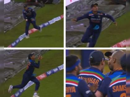 India vs SL 2nd T20I live : What a catch was that by Rahul Chahar, Bhuvneshwar Kumar claim 50 T20i wickets, Video | IND Vs SL 2nd T20I Live : श्रीलंकेनं दोन विकेट्स गमावल्या, राहुल चहरनं सॉलिड कॅच घेतला, Video