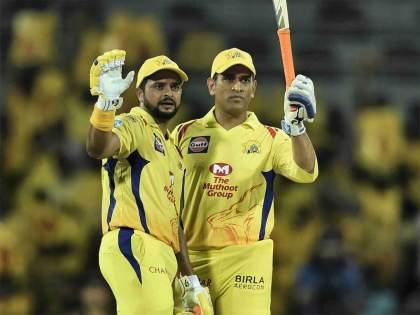 IPL 2020 MS Dhoni surpasses Suresh Raina to become most capped player in IPL history   IPL 2020: धोनीनं रैनाचा 'तो' विक्रम मोडला; दुसऱ्याच मिनिटाला रैना म्हणाला...