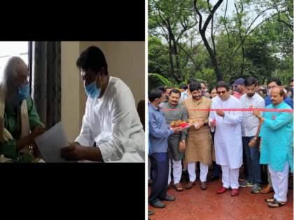 Raj Thackeray was seen wearing a mask in Pune yesterday; Forget all the masks including Thackeray at today's inauguration   राज ठाकरे पुण्यात काल मास्क घातलेले दिसले अन् आजच्या उदघाटनाला ठाकरेंसहित सर्वच मास्क विसरले