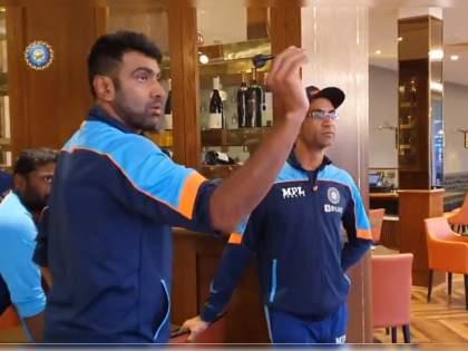 WTC final 2021 Ind vs NZ Test : When rain didn't stop play, Team India members enjoyed a game of dart, Watch Video | WTC Final 2021 IND vs NZ : मैदानावर पावसाचा खेळ अन् दुसरीकडे टीम इंडियाच्या सदस्यांचा सुरू होता वेगळाच गेम, Video