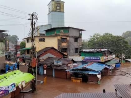 maharashtra ratnagiri heavy rain water logging market under water traffic stopped   Heavy Rain : रत्नागिरी जिल्ह्यात अस्मानी संकट, अनेक ठिकाणी पूर