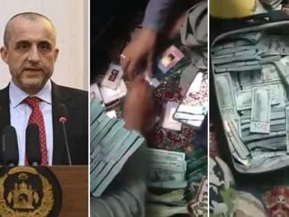 Taliban claims to found 48 crore money gold bricks from Amrullah Saleh home watch video   Afghanistan : अमरूल्लाह सालेहच्या घरात ४८ कोटी रूपये आणि सोन्याच्या विटा सापडल्याचा दावा, बघा व्हिडीओ