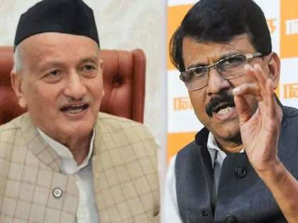 """sanjay raut criticizes governor bhagat singh koshyari over konkan floods visit   Chiplun Flood: """"राज्यात आलेल्या पुरात राज्यघटनेचे पुस्तक वाहून गेले काय?"""" संजय राऊतांचा राज्यपालांना टोला"""