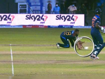 India vs SL 1st T20I : Avishka Fernando was very very excited with that catch, Turns out that the ball bounced before | IND Vs SL 1st T20I Live : श्रीलंकन खेळाडूची चिटींग कॅमेरात कैद झाली, क्षणात आनंदाच्या फुग्यातील हवा निघाली
