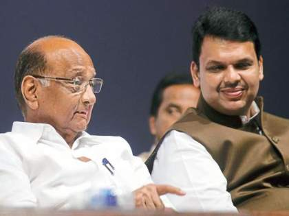 Devendra Fadnavis visits Sharad Pawar, sparks speculation in Maharashtra political circles | थोरले काका अन् देवेंद्रांच्या खुर्चीमागे नारद मुनी