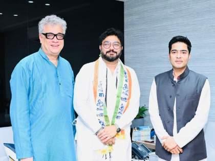 Former Union Minister and ex-BJP MP Babul Supriyo formally joins Trinamool Congress TMC | Babul Supriyo: भाजपाला सर्वात मोठा धक्का; माजी केंद्रीय मंत्री बाबुल सुप्रियो यांचा TMC मध्ये प्रवेश