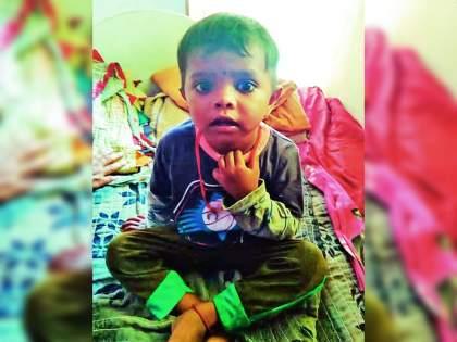 Died of 3 years boy due to electric shock in Nagpur Umred | मन हेलावून टाकणारी घटना; शौचास बसलेल्या चिमुकल्याचा विजेच्या धक्क्याने दुर्दैवी अंत