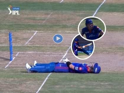 IPL 2021 , KKR vs DC : Steve Smith Missed scoop - down And then out, Watch Funny Video | Video : स्कूप मारायला गेला अन् खेळपट्टीवर आडवा झाला; स्टीव्ह स्मिथवर आली 'वाईट' वेळ!