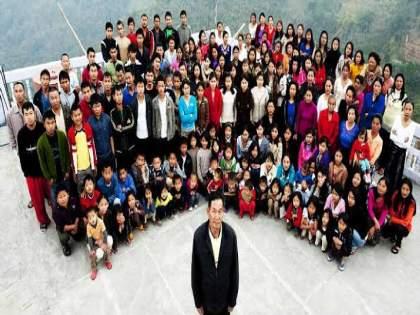 Ziona Chana Husband Of 38 Wives And Father Of 89 Children Died Chief Minister Zoramthanga Tweeted | जगातील सर्वात मोठ्या कुटुंबावर कोसळला दु:खाचा डोंगर; ३८ पत्नी, ८९ मुलं असलेल्या व्यक्तीचं निधन