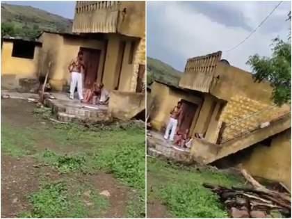 maharashtra beed son beating parents people taking video social media mother died father in comma   मनोरुग्ण मुलाची जन्मदात्यांना अमानुष मारहाण; आईचा मृत्यू, वडील कोमात