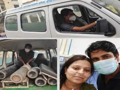 "Uttar Pradesh Coronavirus; Covid Patient Take Oxygen By Driving An Ambulance In Gorakhpur   Coronavirus: ""१ तासांत ऑक्सिजन संपणार इतक्यात...""; कोरोनाबाधिताने गर्भवती बहिणीसह इतर रुग्णांचे प्राण वाचवले"