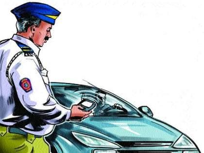 Challans on vehicles; But do not provide information | वाहनांवर चलान फाडतात; पण माहिती देत नाहीत