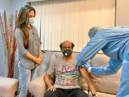 Rajinikanth gets his covid-19 vaccine, daughter soundarya shares photo   थलायवा रजनीकांत यांनी घेतला कोव्हिड व्हॅक्सिनचा दुसरा डोस, लेक सौंदर्या फोटो शेअर करत म्हणाली..