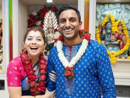 Sonalee Kulkarni finally got married to Kunal Benodekar, she shared the photo and revealed | अखेर दुबईत सोनाली कुलकर्णी कुणाल बेनोडेकरसोबत अडकली लग्नबेडीत, कुटुंबियांनी लावली ऑनलाईन उपस्थिती