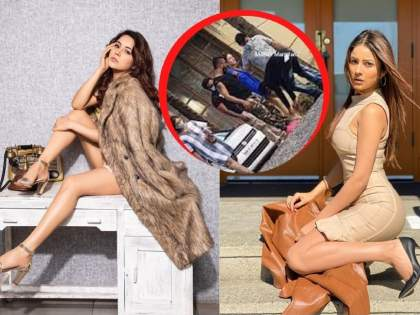 Shehnaaz Gill trolled after her team member changed her shoes video viral | इतका माज आला का? शहनाज गिलचा हा व्हिडीओ पाहताच संतापले युजर्स, काय आहे कारण?