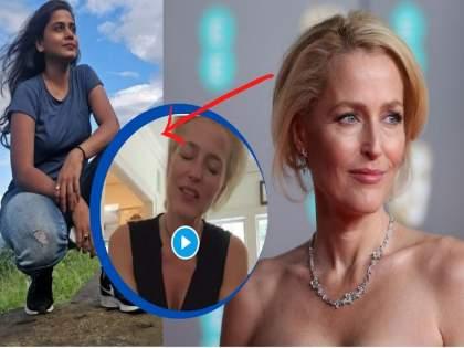 I don't care if my breasts reach my belly button - Gillian Anderson   ...तरीही मी 'ब्रा' घालणार नाही; हेमांगीच्या 'बोल्ड' पोस्ट पाठोपाठ हॉलिवूड अभिनेत्रीनं थेट जाहीरच केलं!