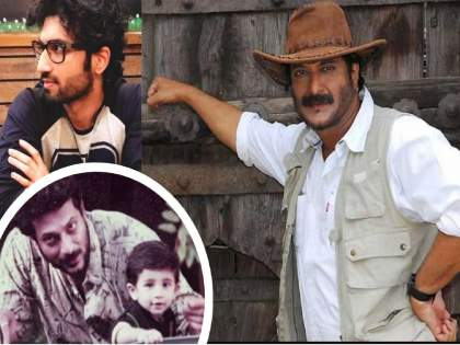 marathi superstar Milind Gunaji son Abhishek Gunaji working with talented actress sonali kulkarni   मिलिंद गुणाजीच्या हँडसम मुलाला पाहिलं का? दिग्दर्शक म्हणून कलासृष्टीत आजमावतोय नशीब