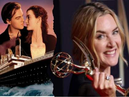 Titanic Actress Kate Winslet Then And Now She Took Emmy Awards 2021 For Outstanding Actress   Emmy awards : 'टायटॅनिक'ची 'रोझ' आठवते ना? 24 वर्षानंतर दिसते अशी
