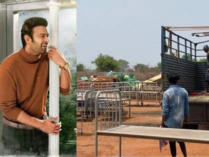 Prabhas starrer Radhe Shyam filmmakers donate set property to a hospital   जे बात!! प्रभासच्या सिनेमाचा संपूर्ण सेट कोरोना रूग्णांसाठी दान केला